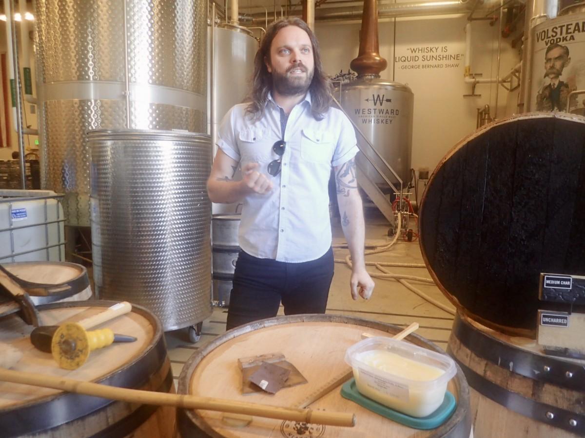 Westward American Single Malt Whiskey Charring Process