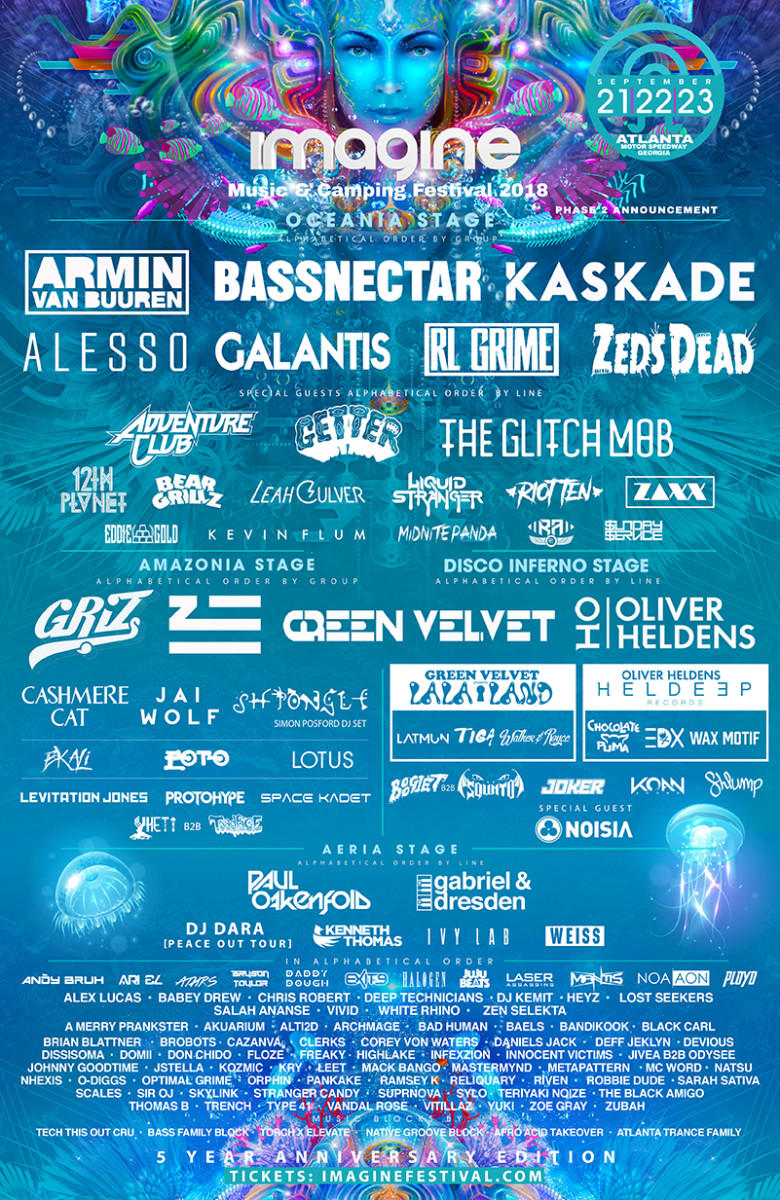Imagine Music Festival 2018 Phase 2 Lineup
