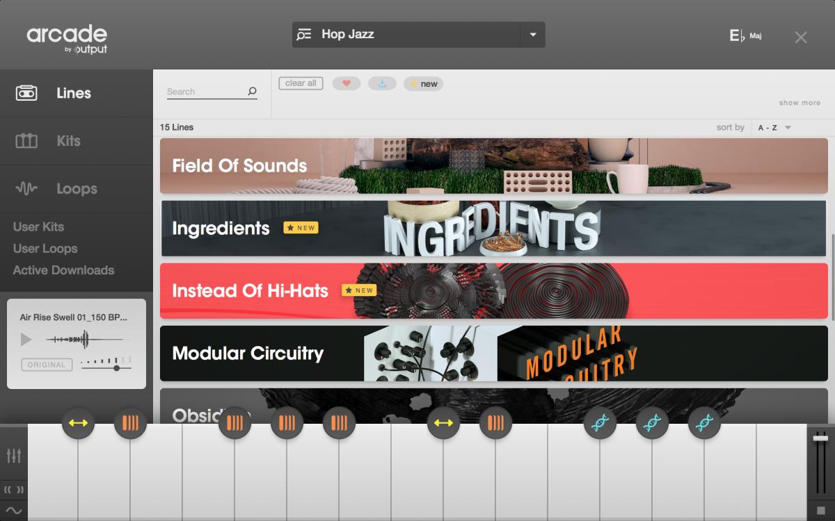 4. Arcade Browser - Lines