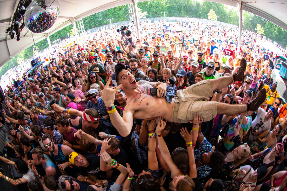 Firefly Festival 2018 Crowd Surfing
