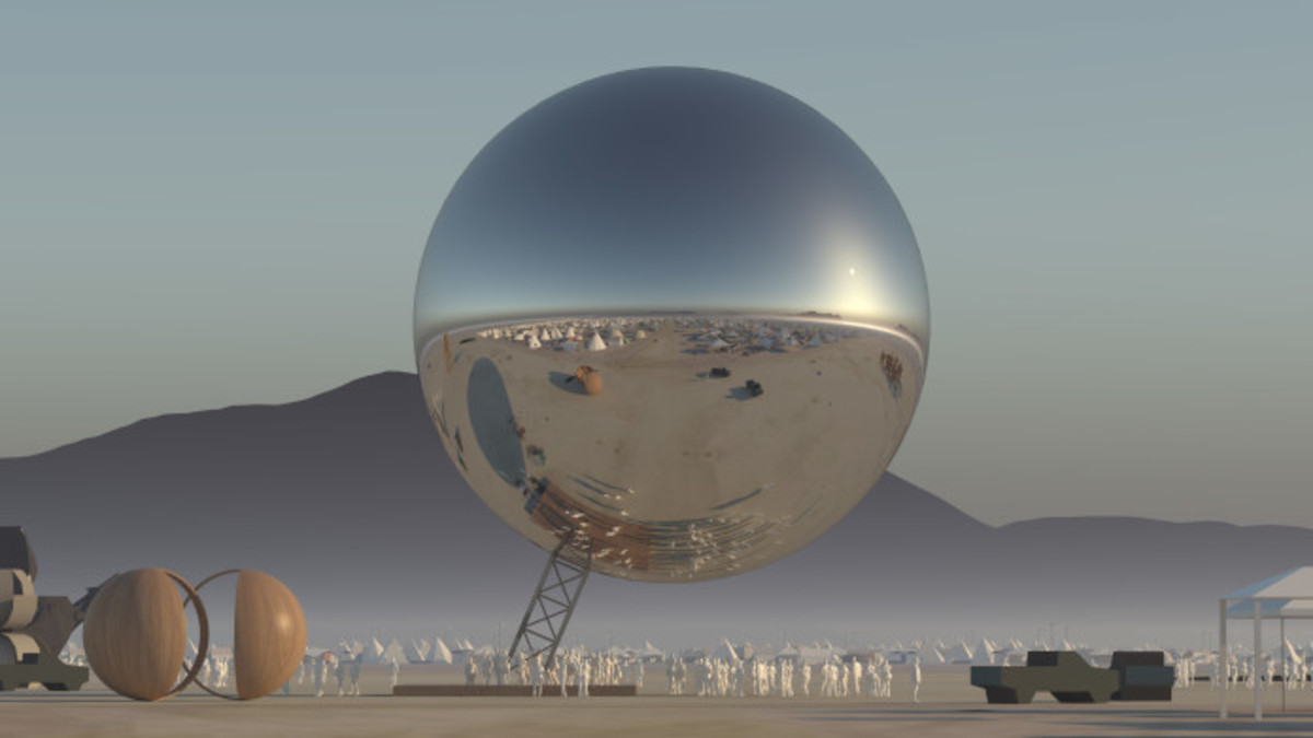 Burning Man Disco Ball