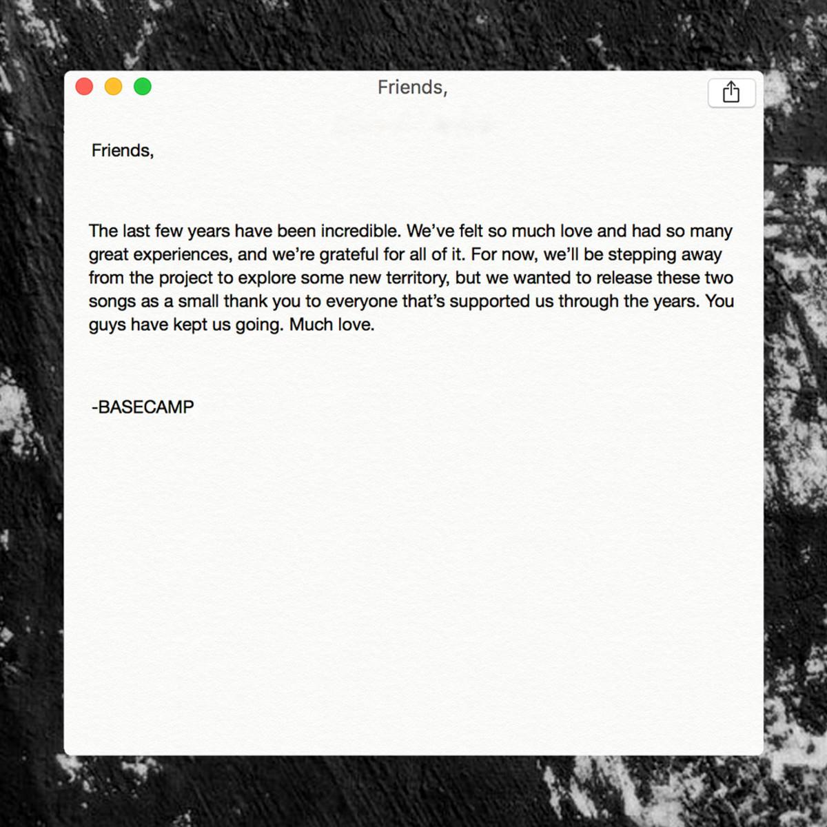 Basecamp Letter