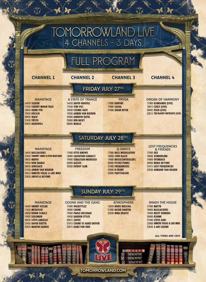 Tomorrowland 2018 weekend 2 live stream schedule
