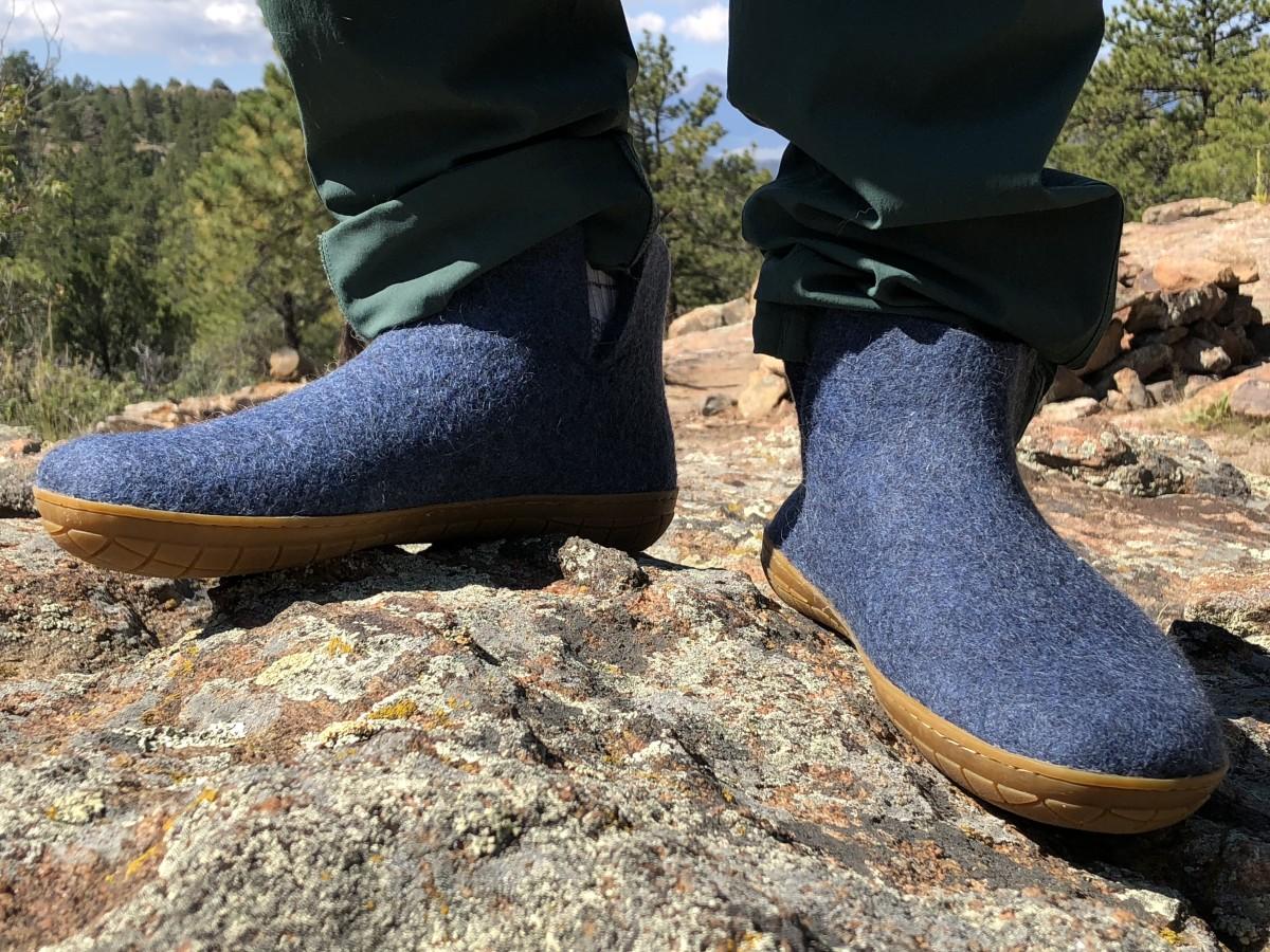 Glerups Low Boot w/ Rubber Sole in Denim $155