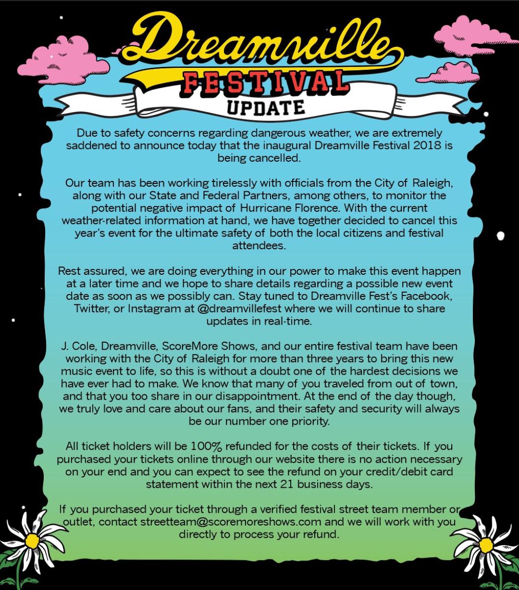 Dreamville Festival 2018 Update
