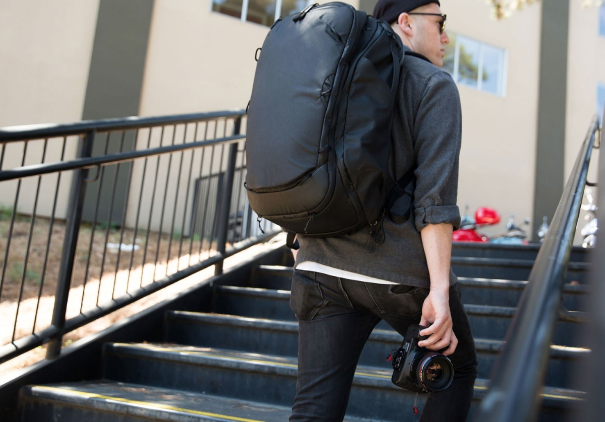 The Peak Design Travel Backpack in Black (Image courtesy of Peak Design)