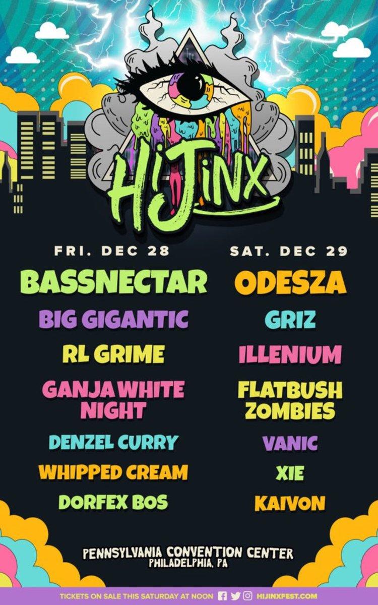 HiJinx 2018 Lineup Poster