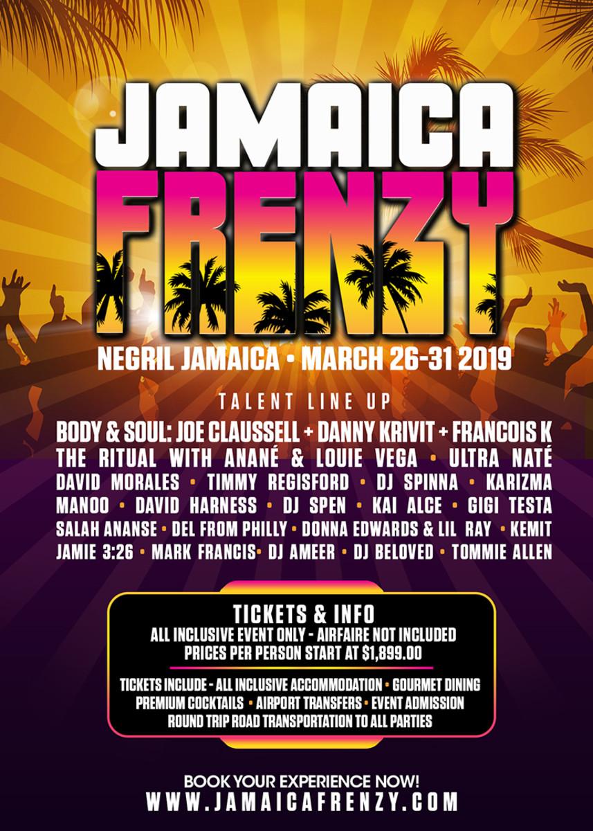 Jamaica Frenzy 2019 Lineup