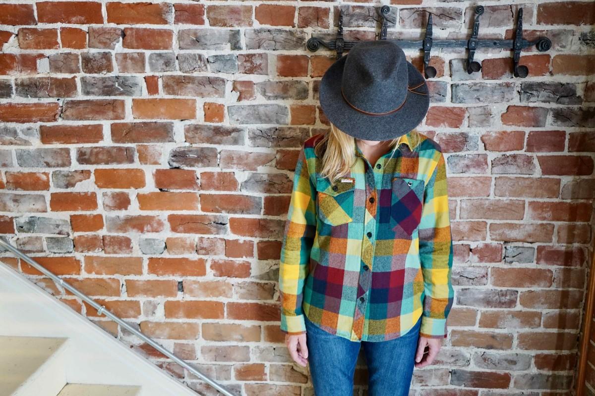 TOPO Designs Women's Work Shirt $98 + Bridge & Burn Luke Hat