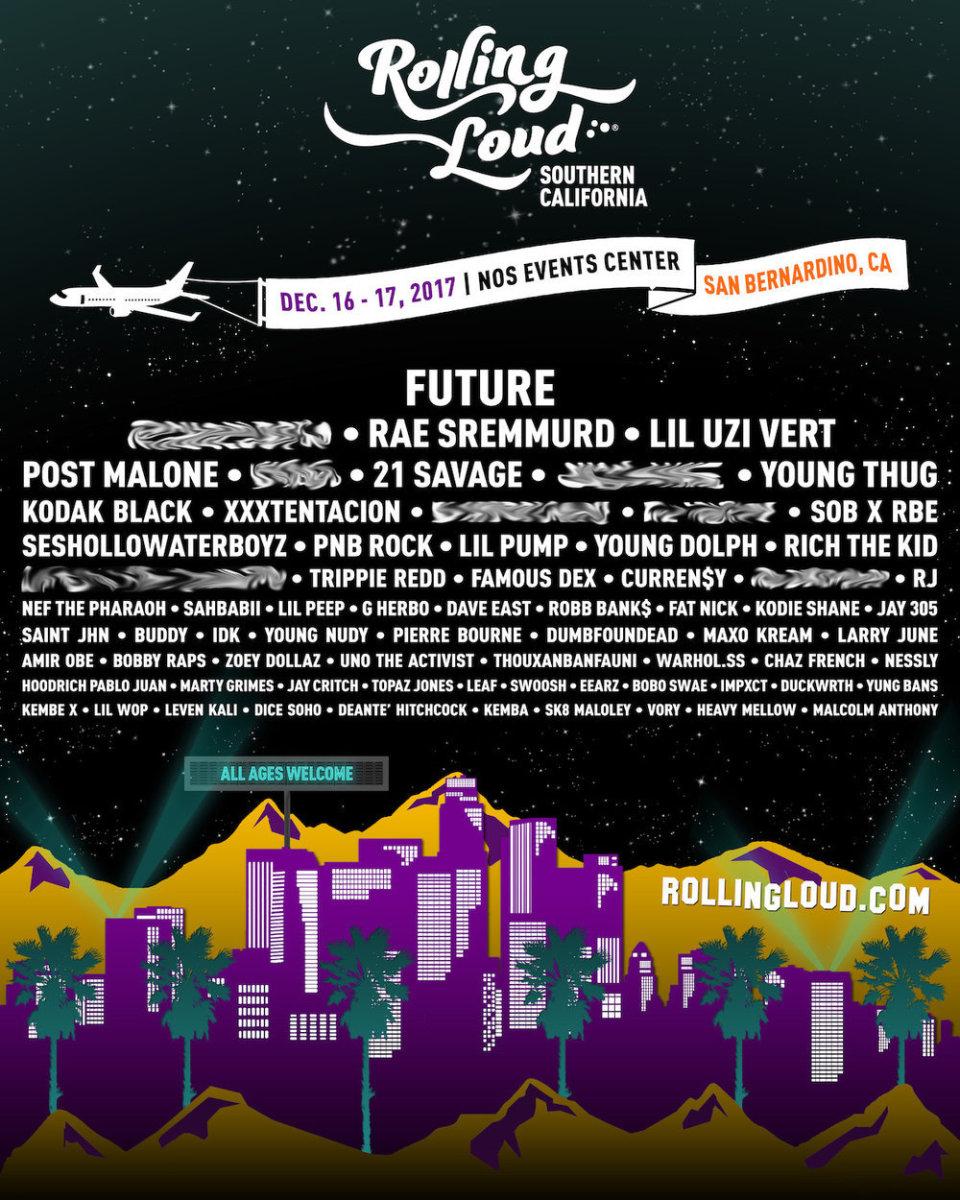 Rolling Loud 2017 LA lineup