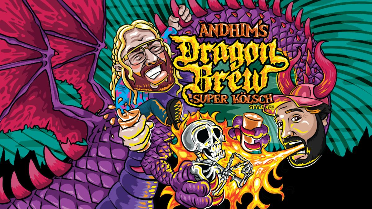 Andhim Dragon Brew Super Kolsch Beer