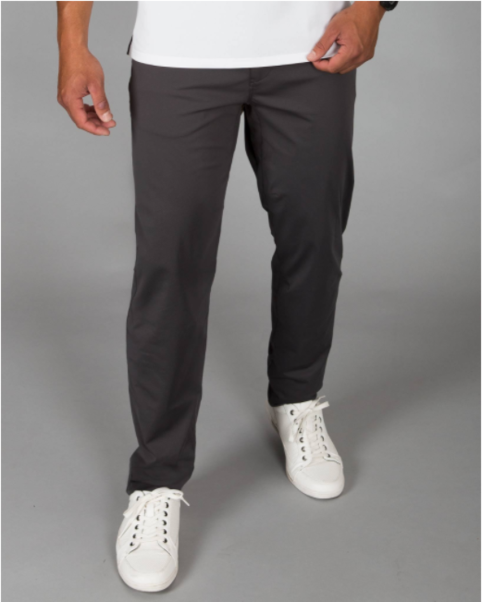 Rhone's Commuter Pant - Sleek, stretchy and durable. Pair it with clean white sneaks.