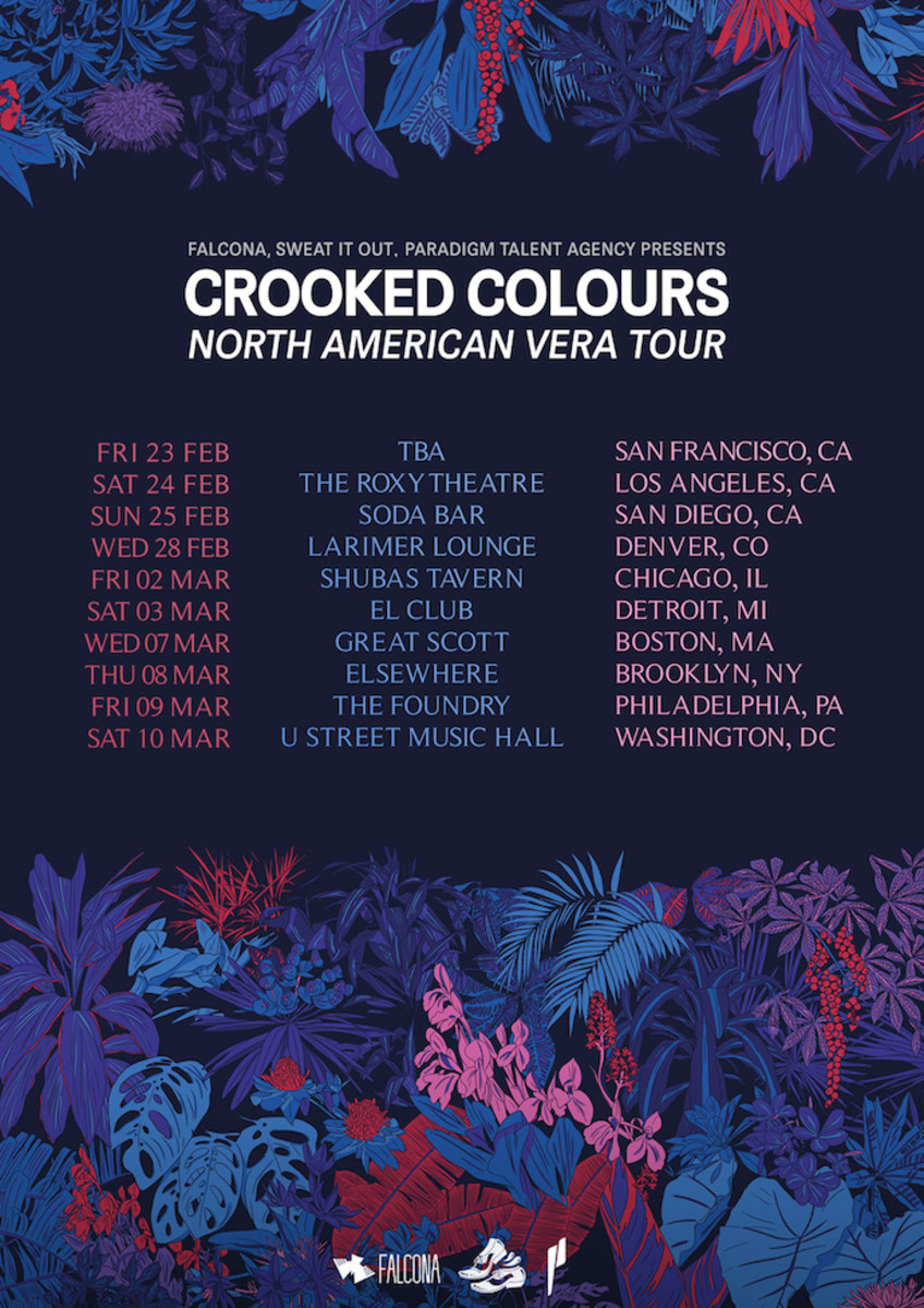 Crooked Colours Vera North America Tour 2018