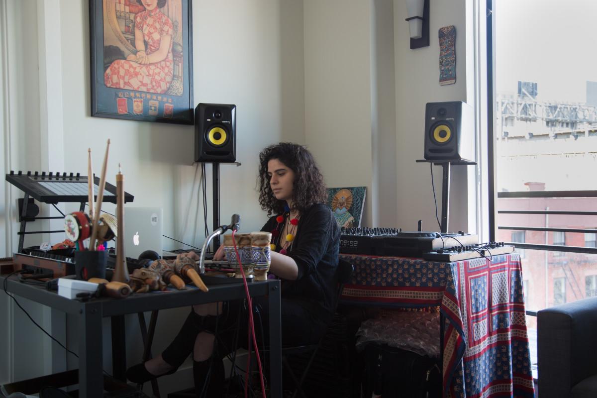 Carlita in the studio by Will Benrubi