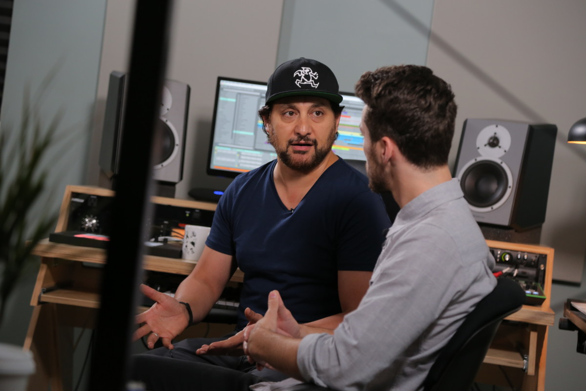 Sharam from Deep Dish / Yoshi Toshi Records speaks with Adam Johan of IO Music Academy at a recent guest lecture.