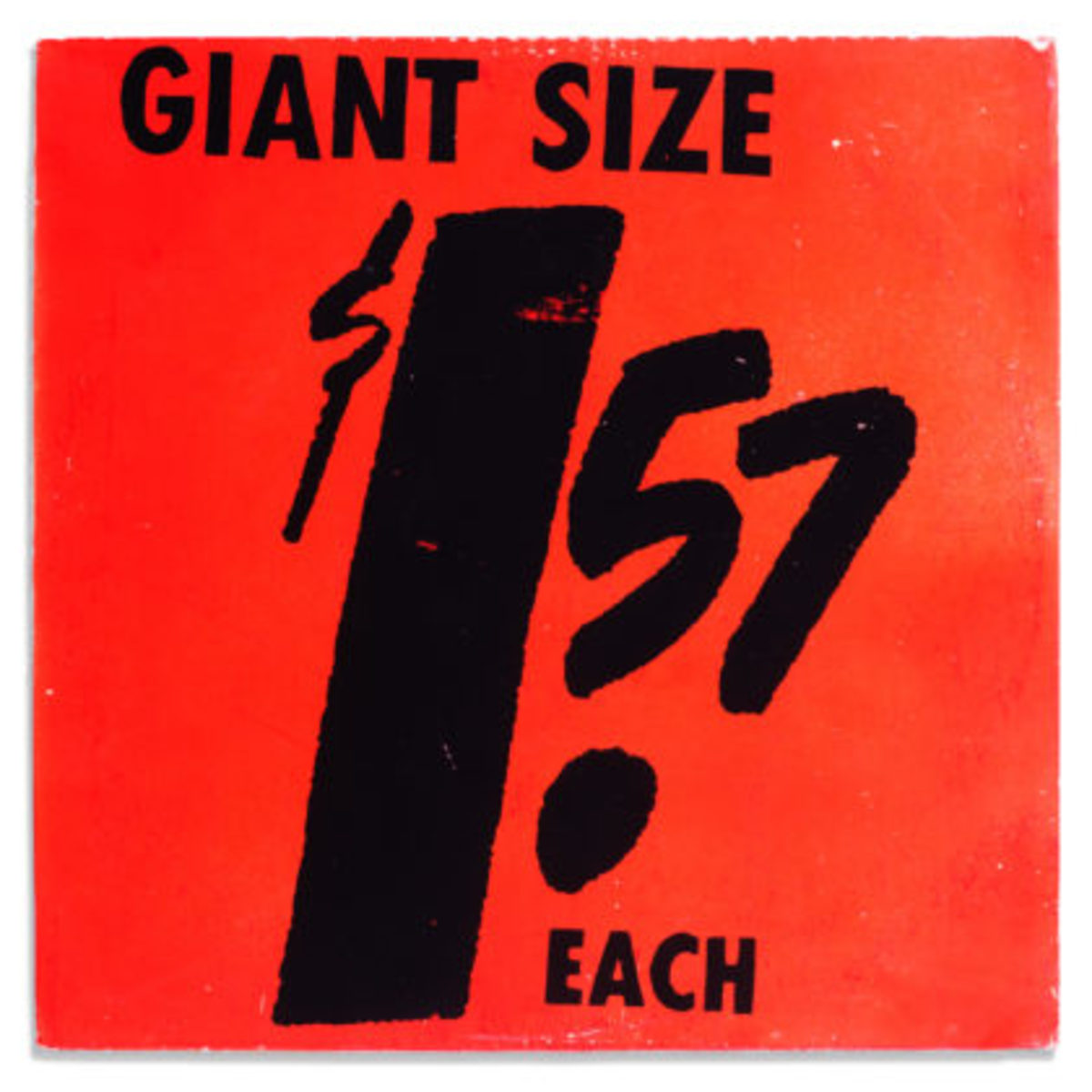 ANDY WARHOL, Giant Size $1.57 Each [Interviews with Artists Participating in The Popular Image exhibition at The Washington Gallery of Modern Art], 1963record album