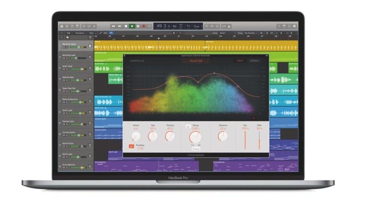 Logic Pro X's ChromaVerb Plugin