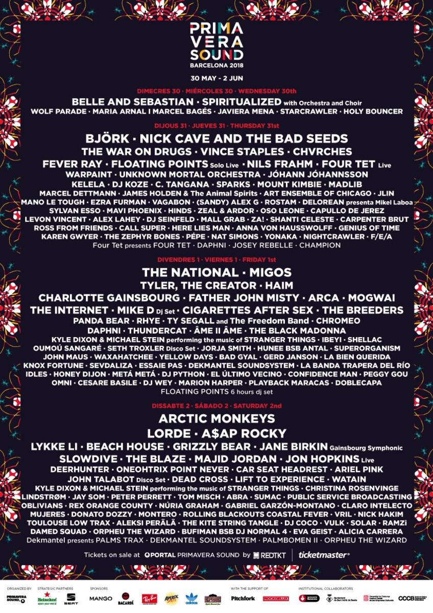 Primavera Sound 2018 Lineup