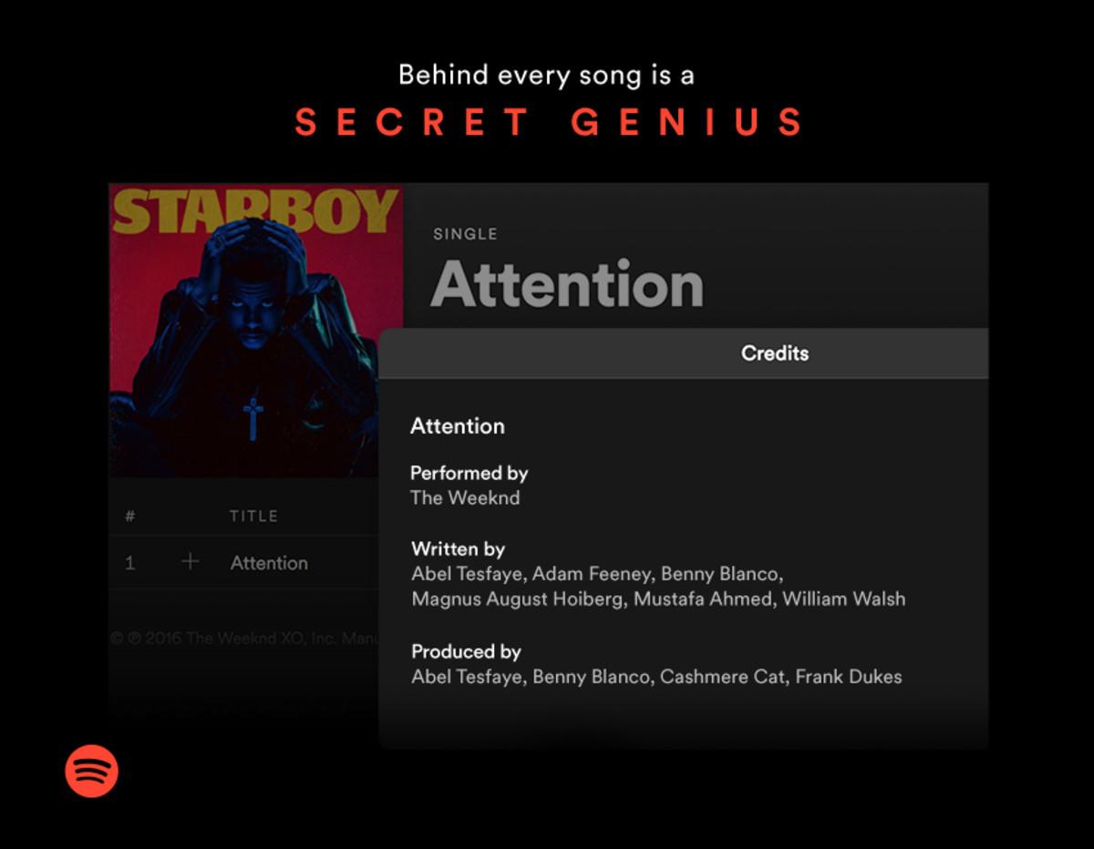 Spotify Credits