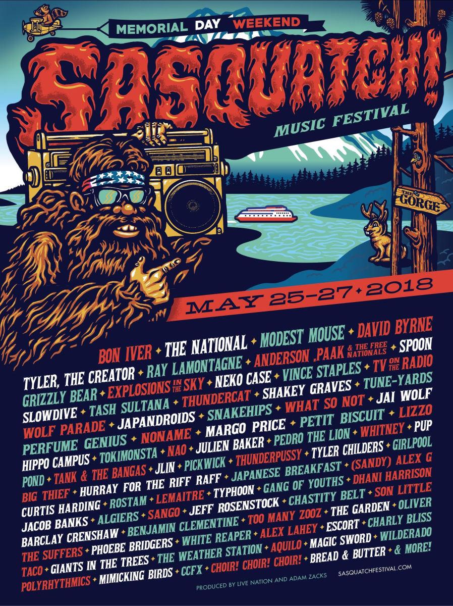 sasquatch festival 2018 poster