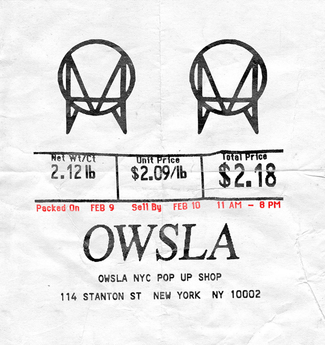 OWSLA Pop Up Shop NYC 2018