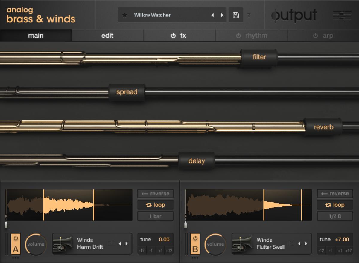 Output - Analog Brass & Winds - GUI - 1 Main