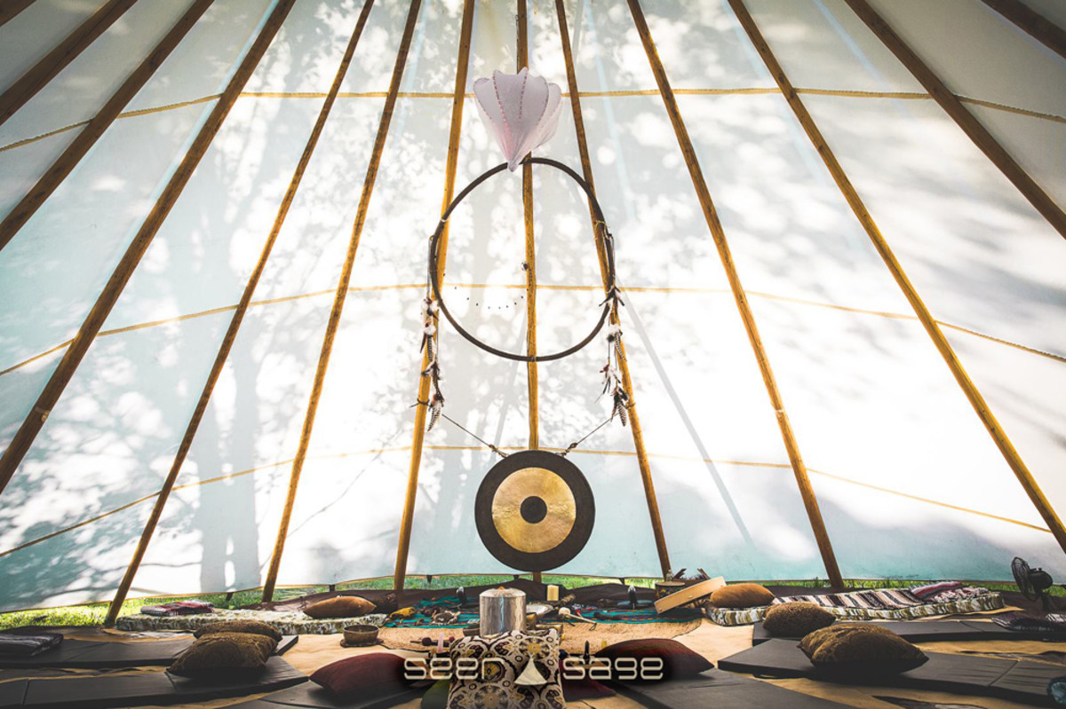Elements Lakewood Festival 2018 Yoga, tent