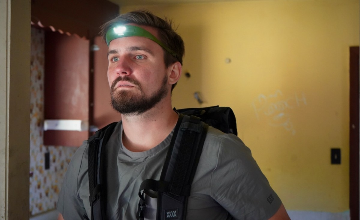 Alex wears Knog Bandicoot Headlamp, Mission Workshop Rhake Pack and Topo Tech Popover