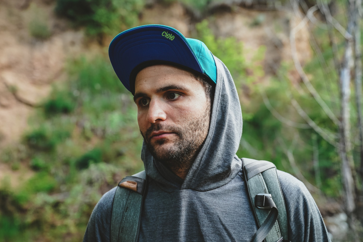 Cam wears Hat By Ciele and Merino Wool Hoodie from Chrome