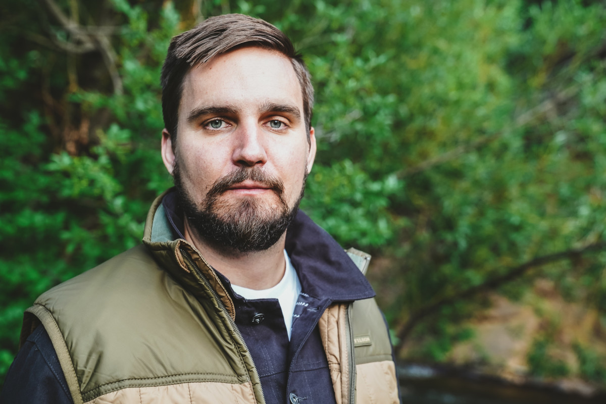 Alex wears Ultralight Vest by Filson and Jacket from Element x Bad Brains