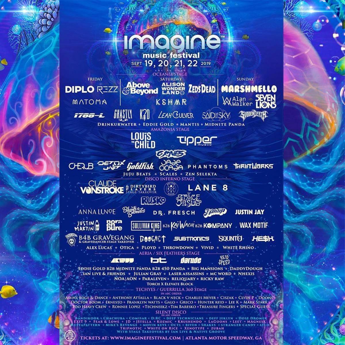 Imagine Music Festival 2019 Lineup