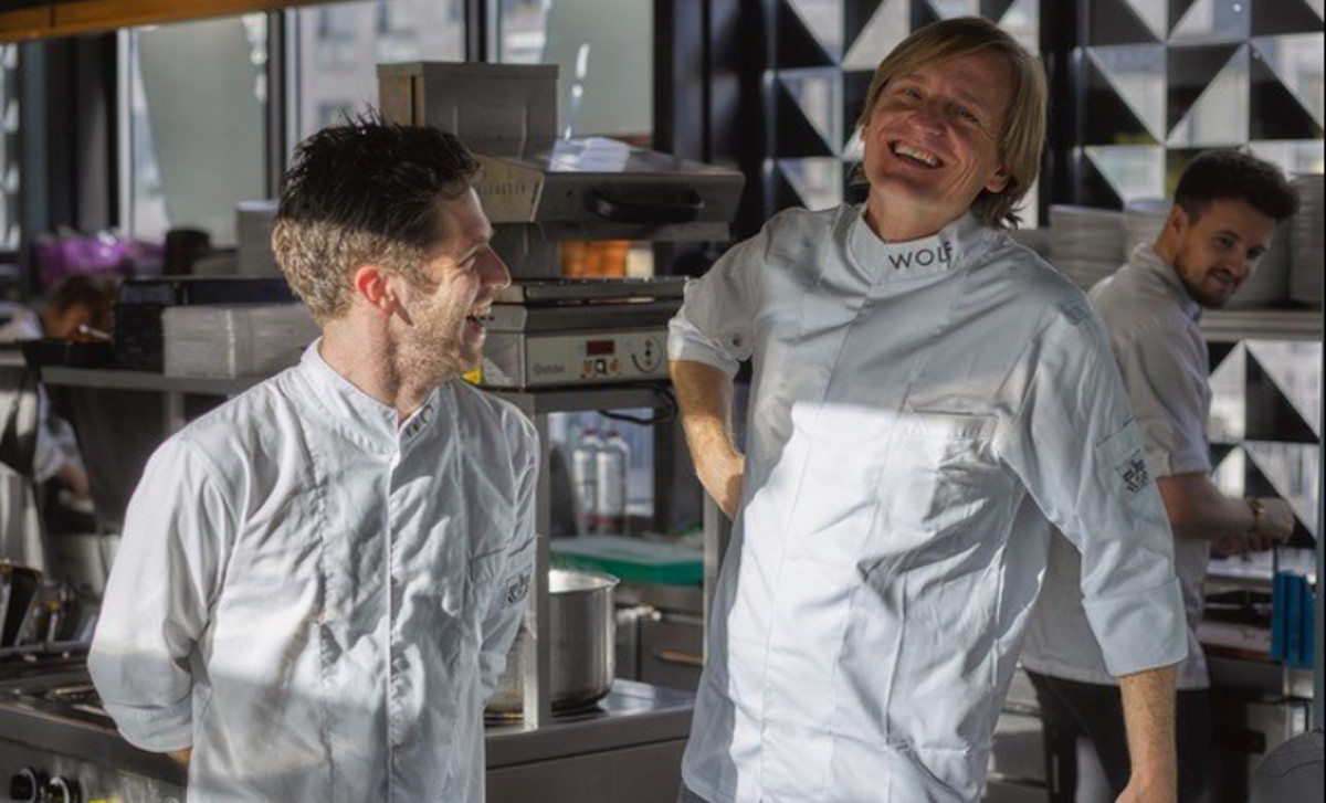 Michael Wolf and Michel de Hey cooking at Wolf atelier