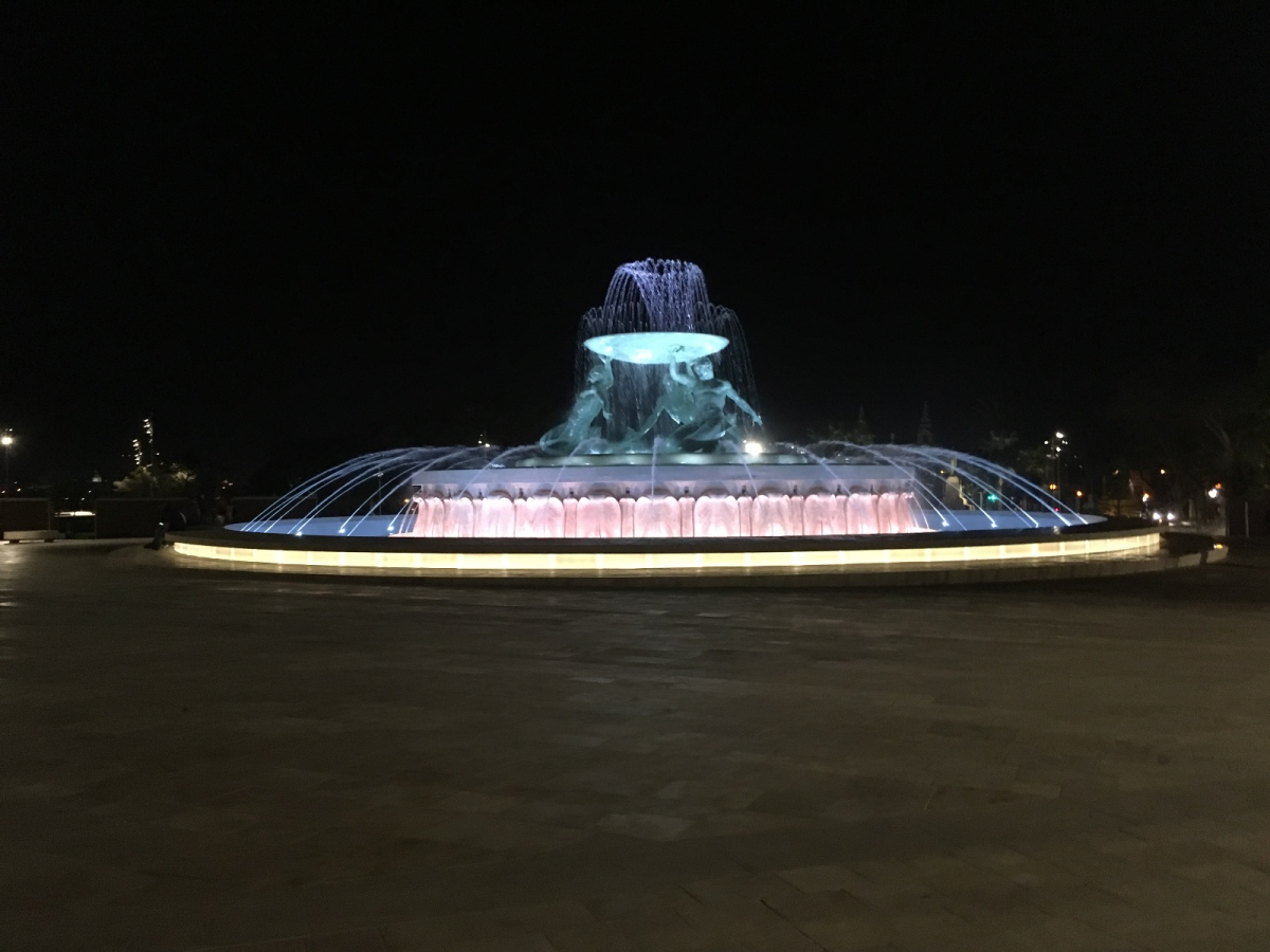 Triton Fountain in Valletta Malta