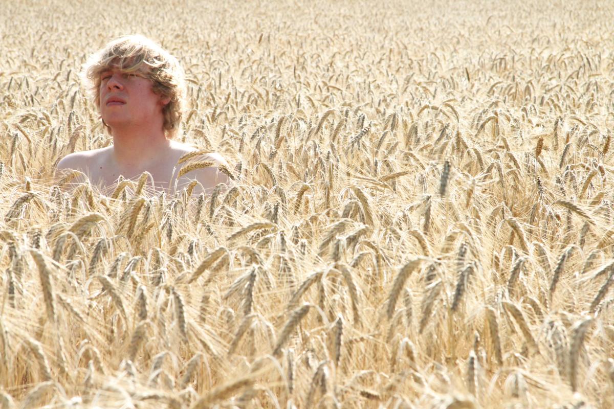 Domonic Eulberg Wheat Field Shirtless