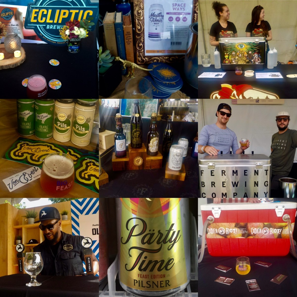 Feast Portland: Ecliptic Brewing, Modern Times Beer, Great Notion Brewing, Von Ebert Brewing, pFiem Family Brewers, Ferment Brewing, Old Town Brewing, Wayfinder Beer, Cider Riot