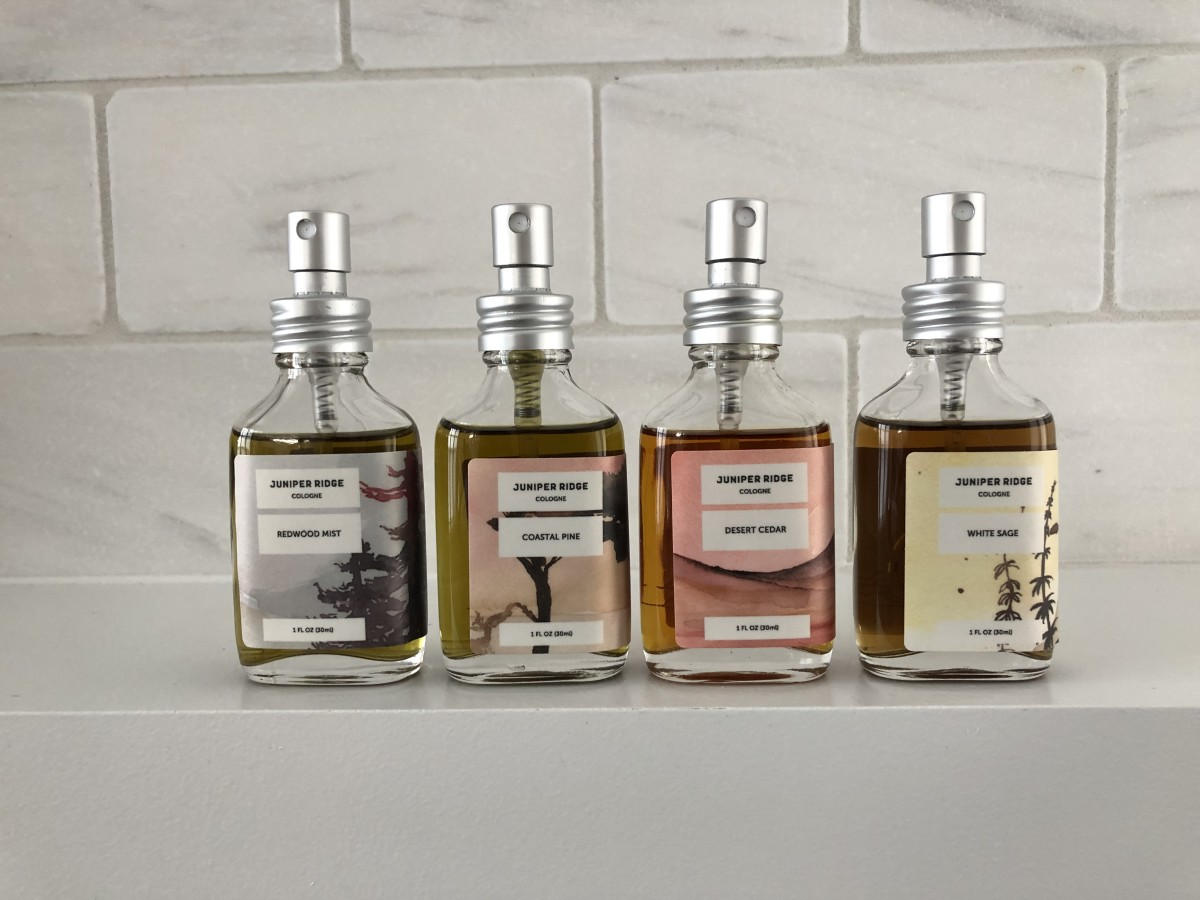 Juniper Ridge Colognes in Redwood Mist, Coastal Pine, Desert Cedar and White Sage