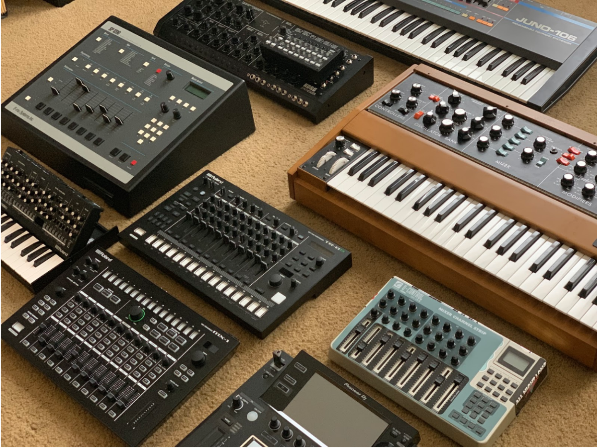 All of the gear, synths