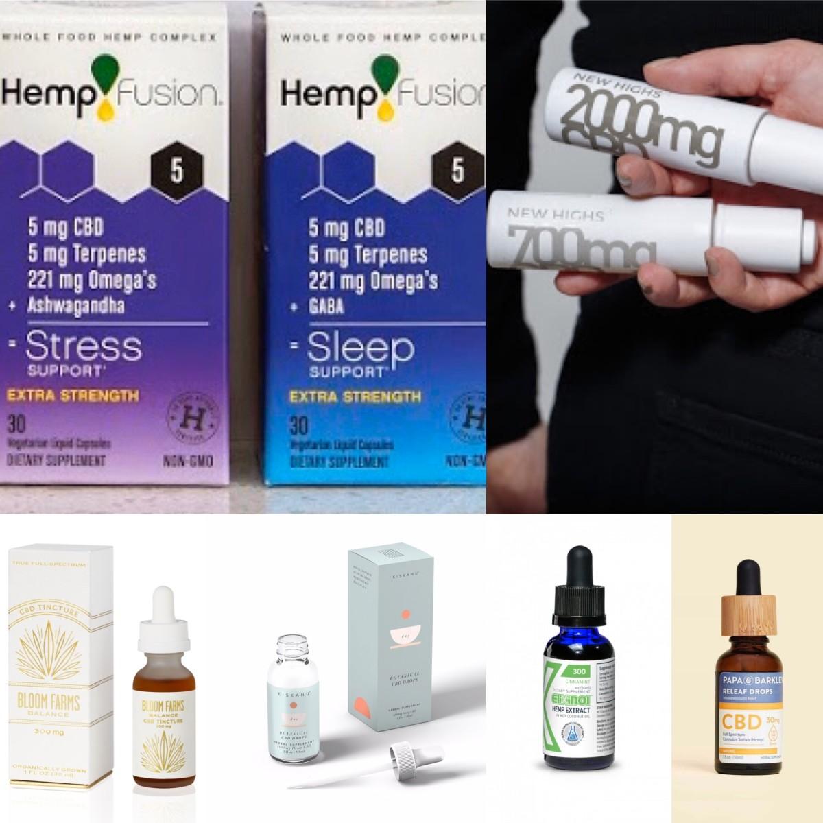 Bloom Farm, Exlinol, HempFusion, Kiskanu, New Highs, Pappa & Barkley