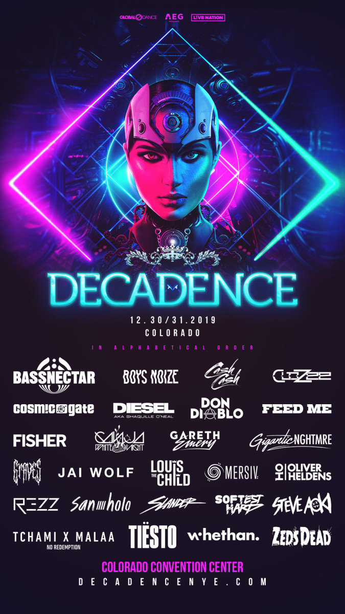 Decadence NYE 2019 Colorado Lineup