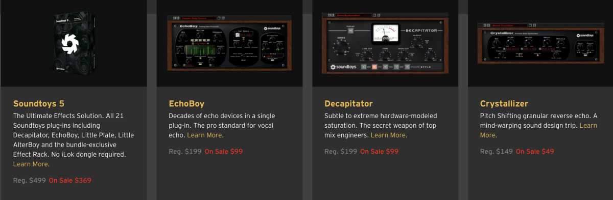 The holiday sale is on now at www.soundtoys.com