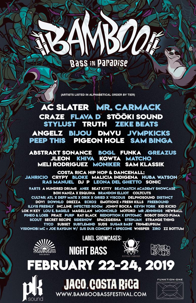 Bamboo Bass Festival 2019 Lineup