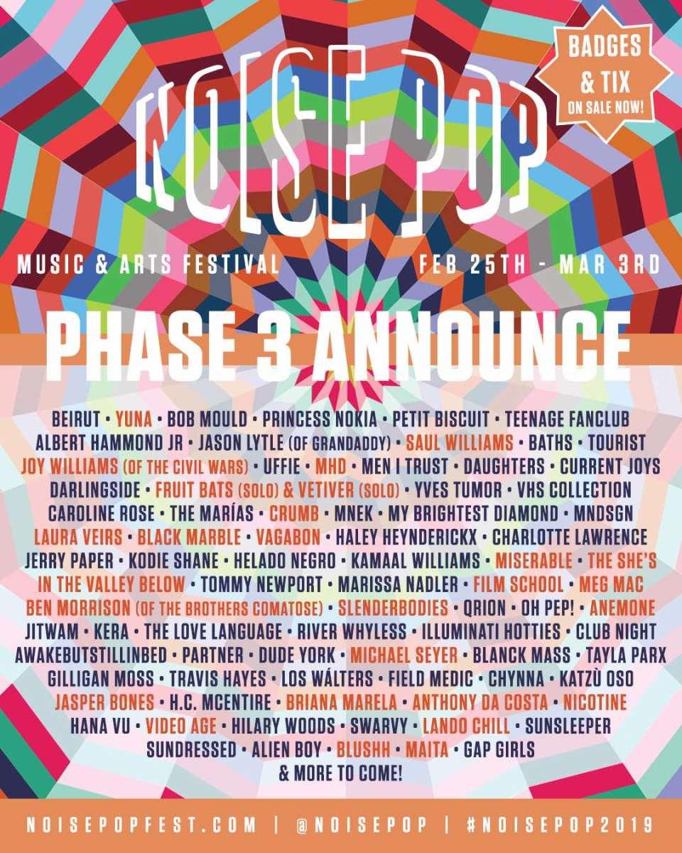 Noise Pop Festival 2019 Lineup