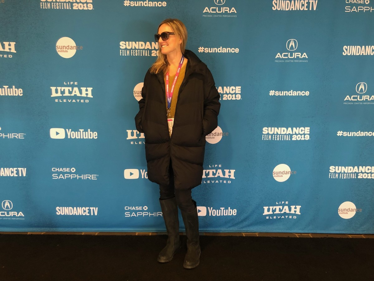 To The Stars Producer Laura D. Smith @ Sundance w/ Hooded Down Coat by Goldwin