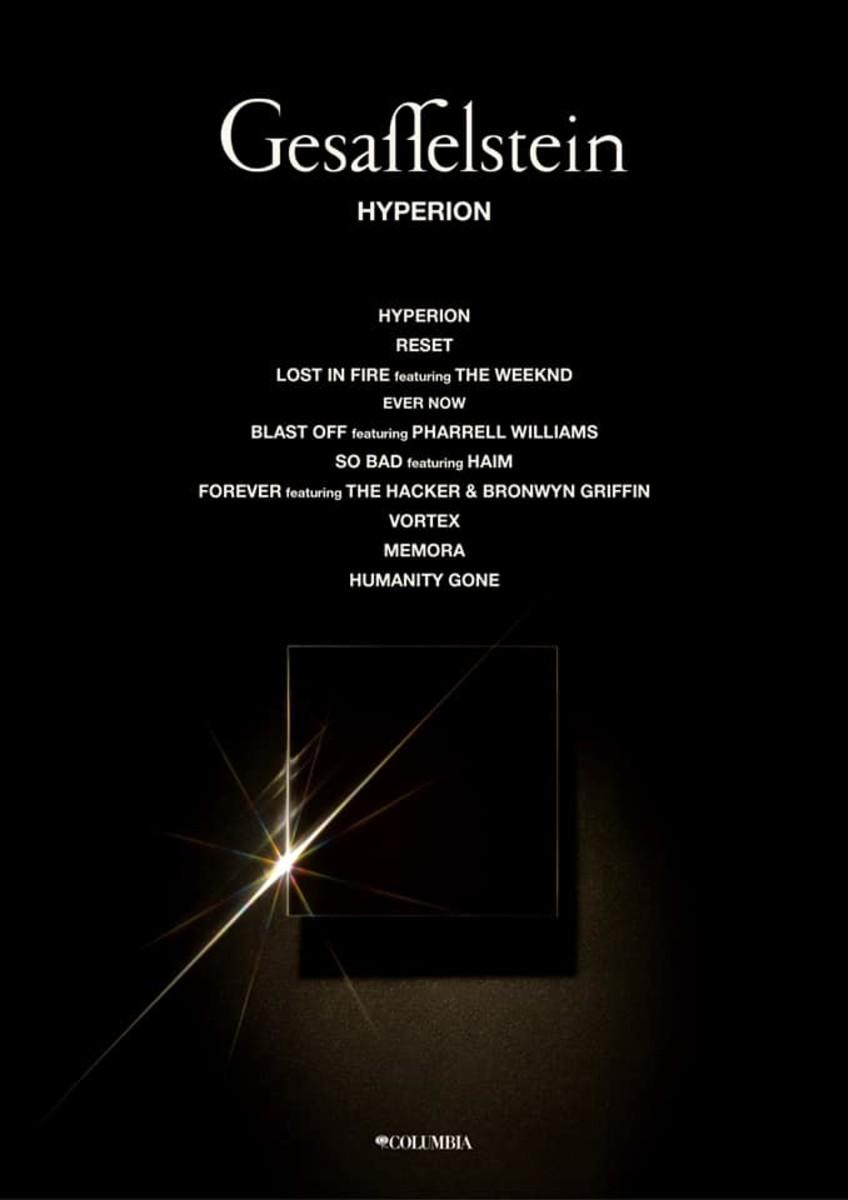Gesaffelstein Hyperion Tracklist