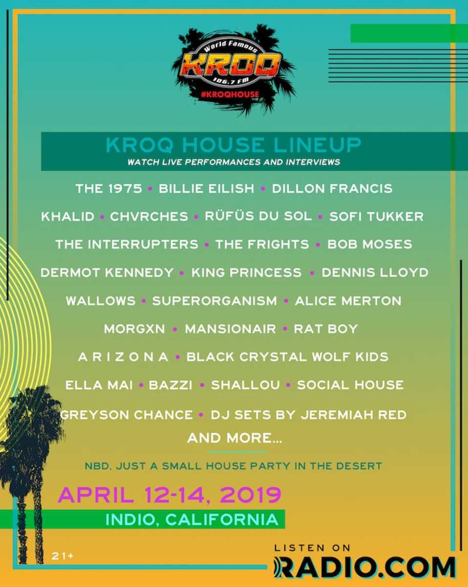 An amazing line up for the KROQ mini-festival pool party!!!