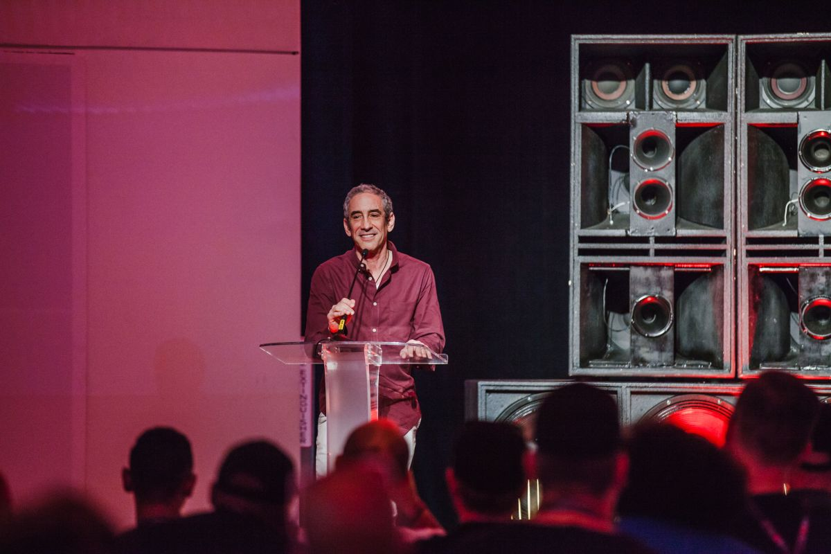 Douglas Rushkoff delivers his keynote at Winter Music Conference 2019