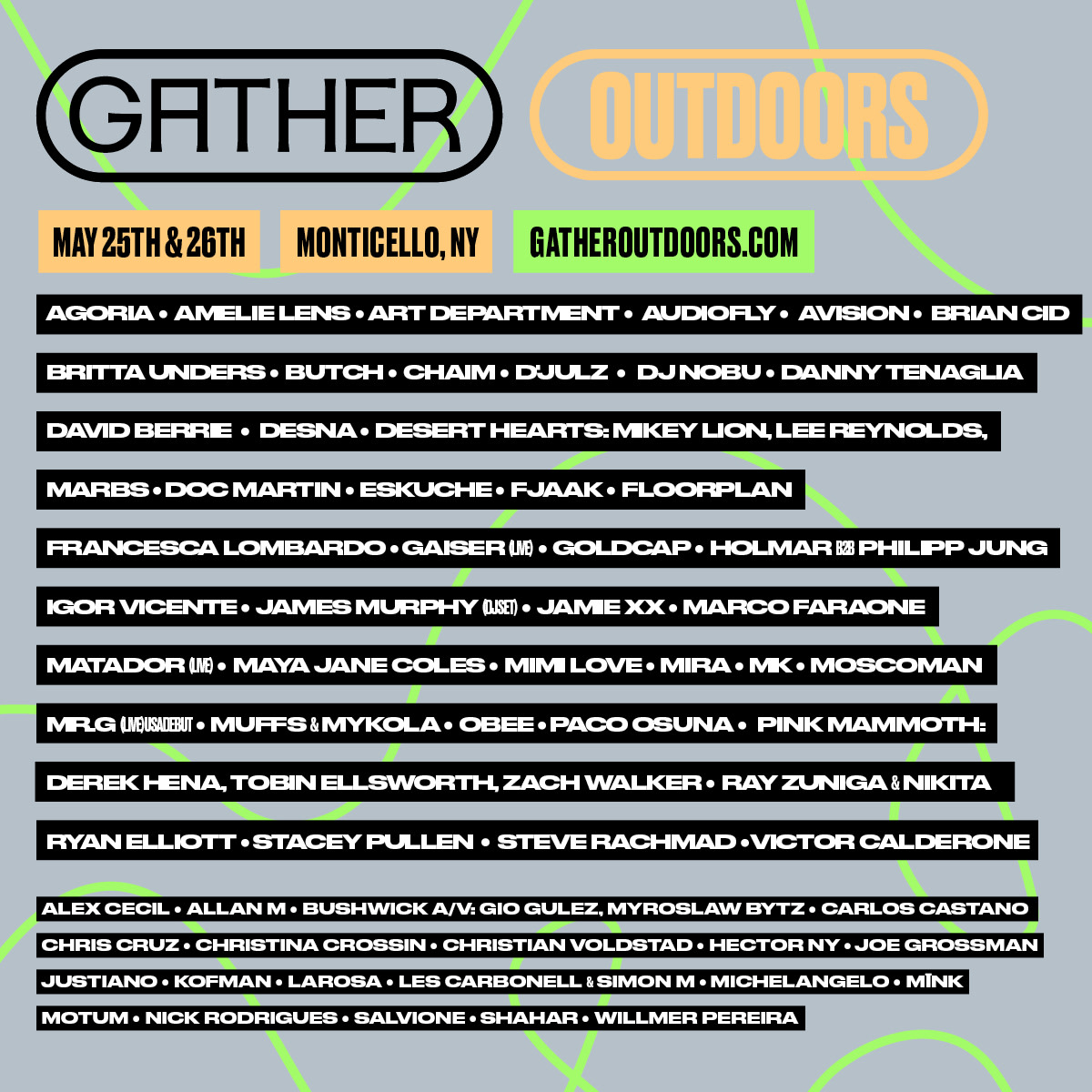 Gather Outdoors 2019 Lineup