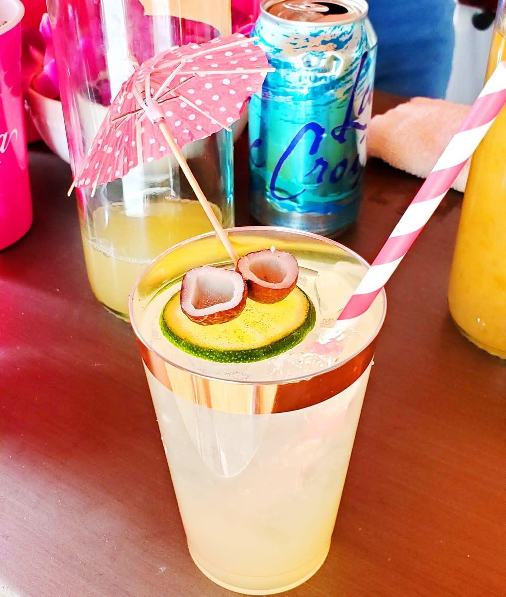 mini coconuts chillin on a cucumber floatie!!!