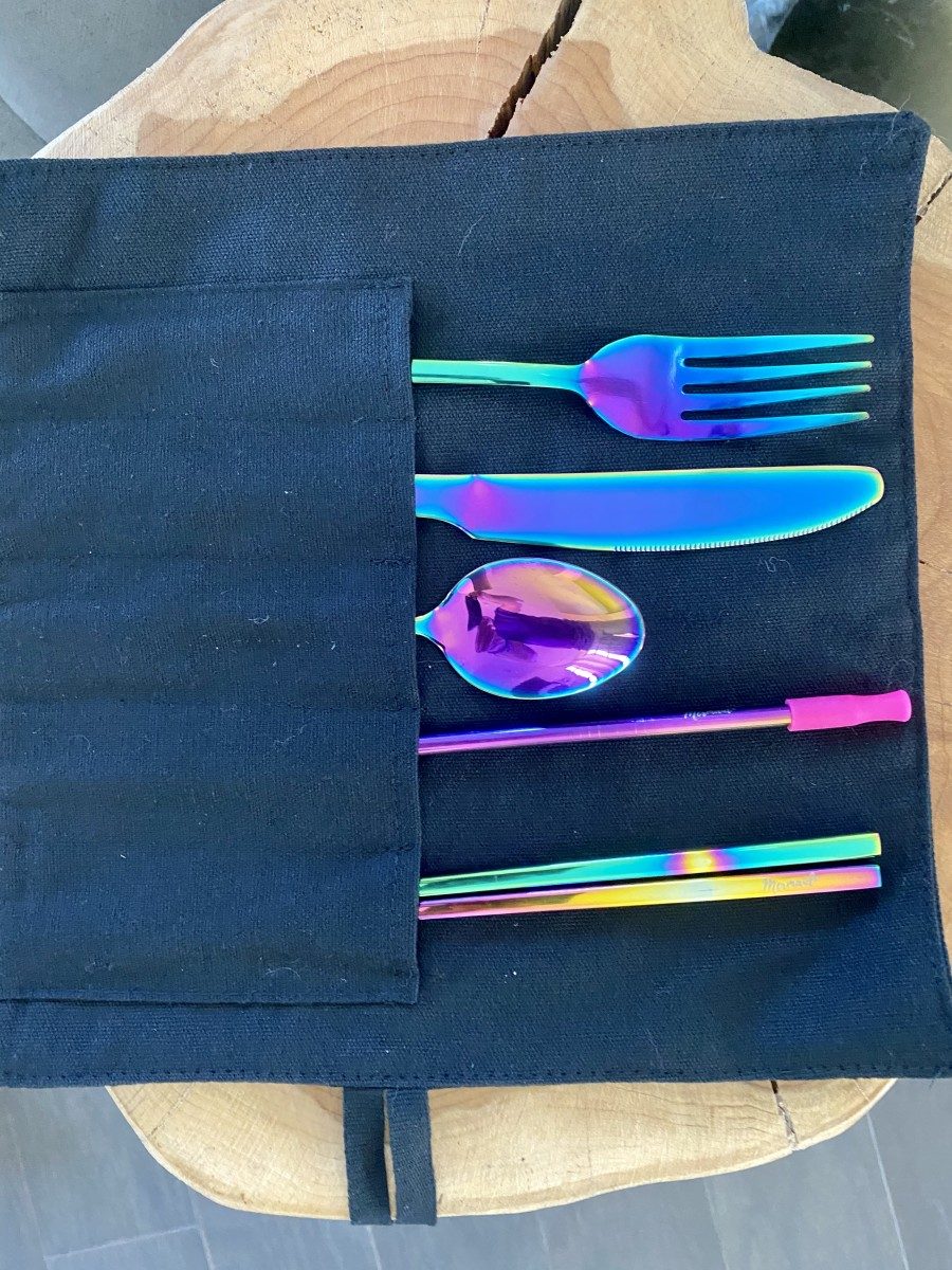 Save the planet with reusable silverware, straw and chopsticks