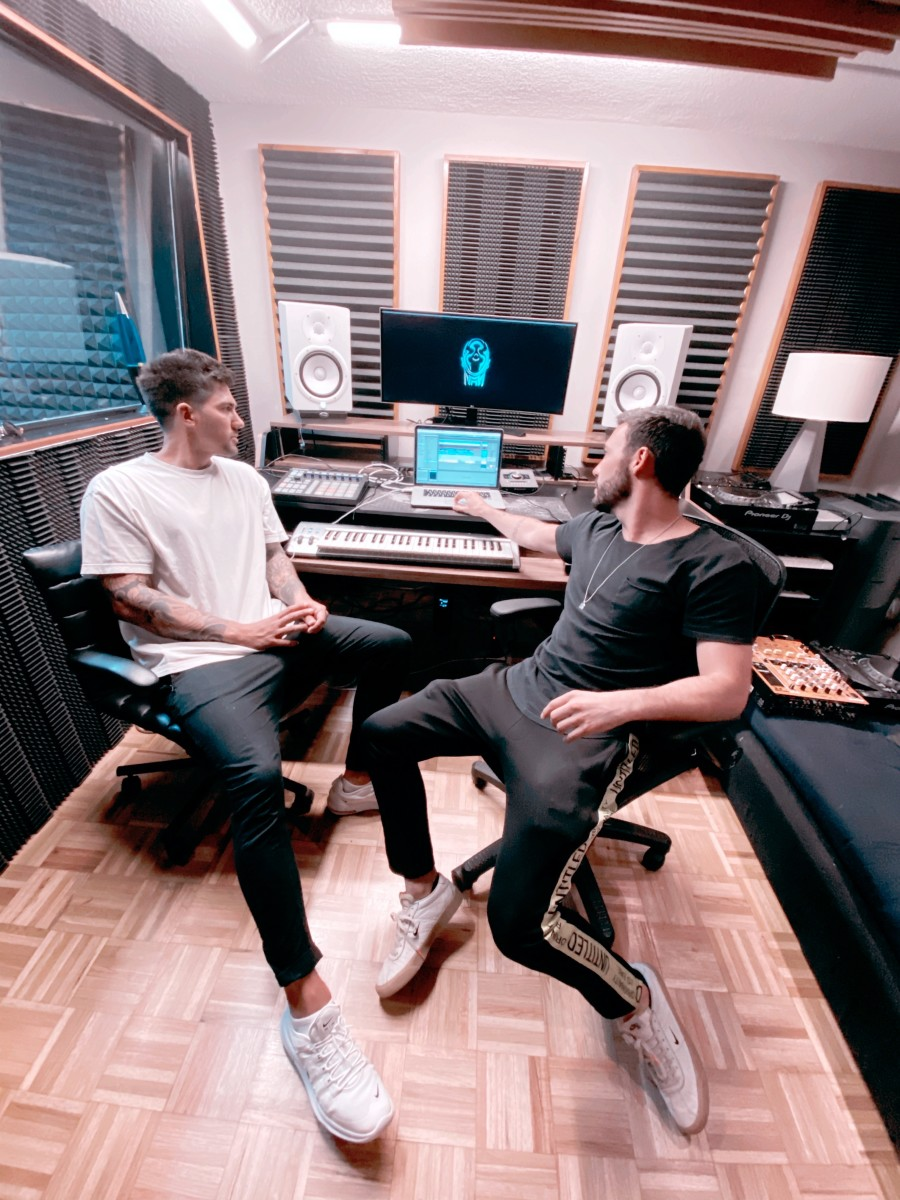 Tom & Collins in their studio